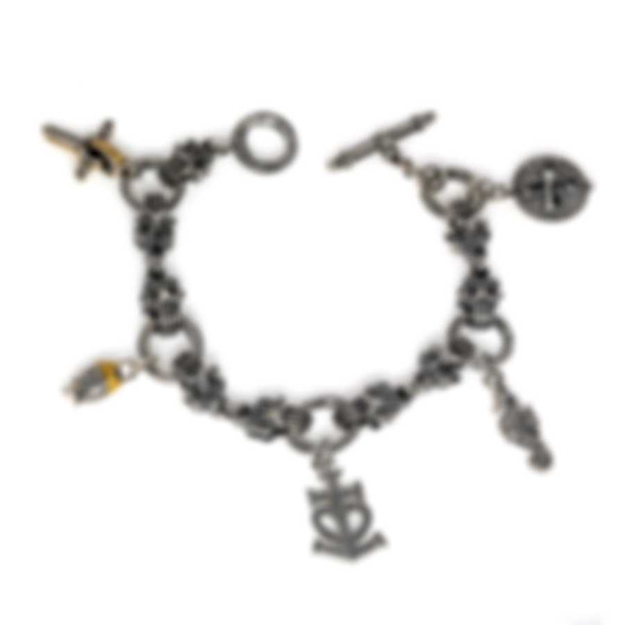 Konstantino Sterling Silver And 18k Yellow Gold Bracelet BKJ582-130