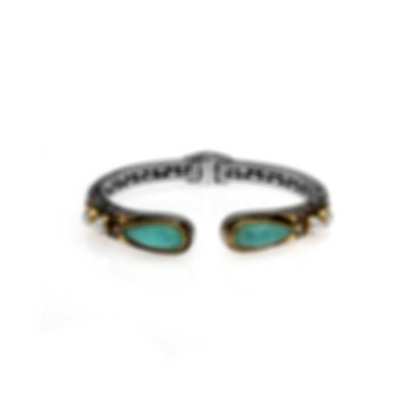Konstantino AMPHITRITE Sterling Silver And Sea Blue Agate Bracelet BKJ500-345