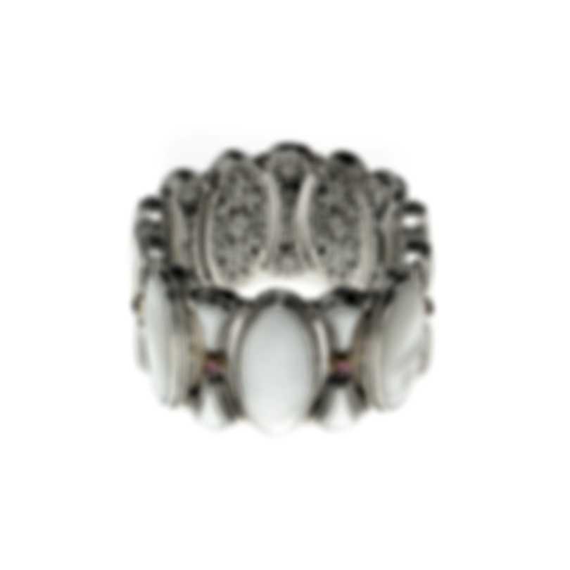Konstantino Athena Sterling Silver 18k Gold And Mother Of Pearl Bracelet BMK4171