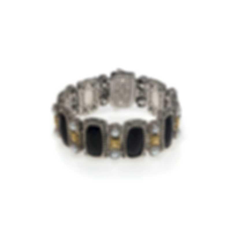 Konstantino Nykta Sterling Silver & 18k Yellow Gold & Pearl Bracelet