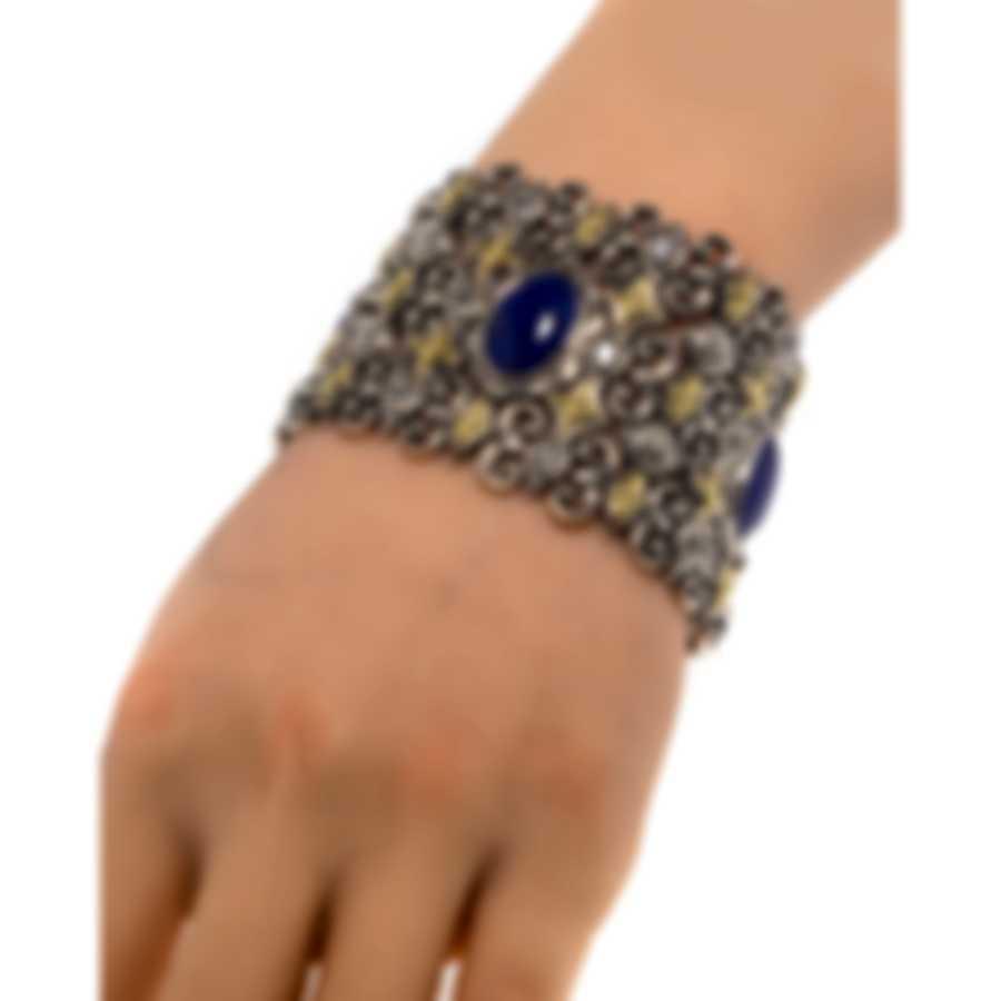 Konstantino Electra Sterling Silver & 18k Yellow Gold & Lapis Bracelet
