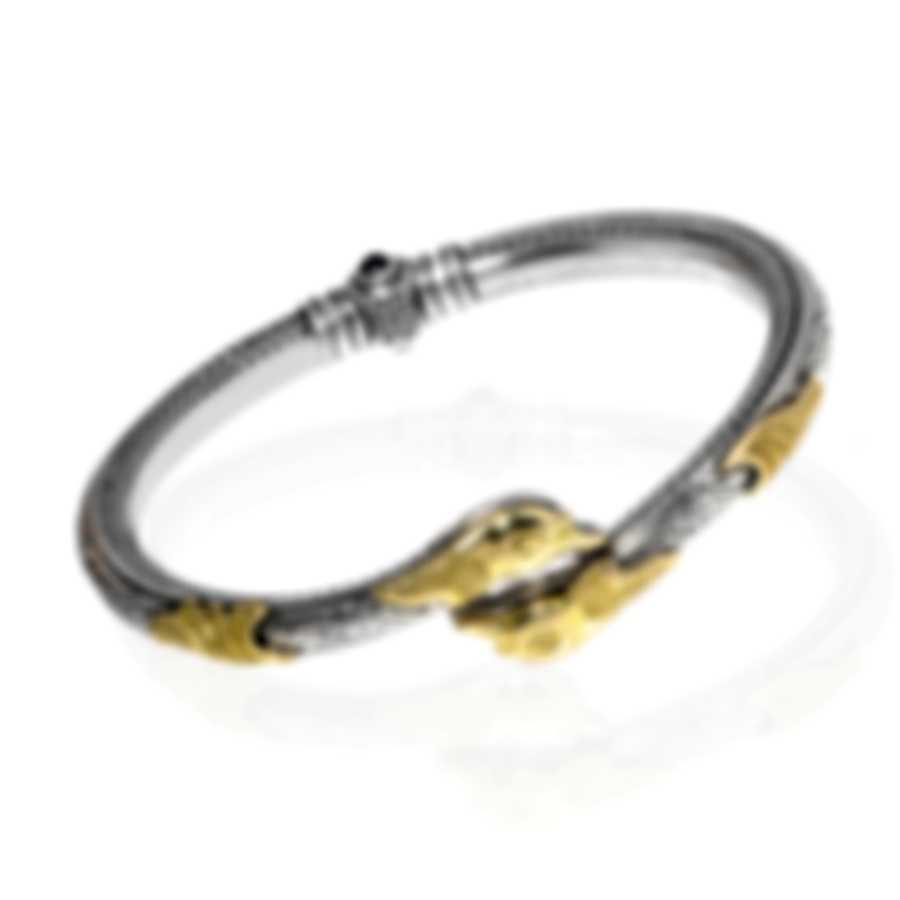 Konstantino Sterling Silver And 18k Yellow Gold Bracelet BMK4338-130