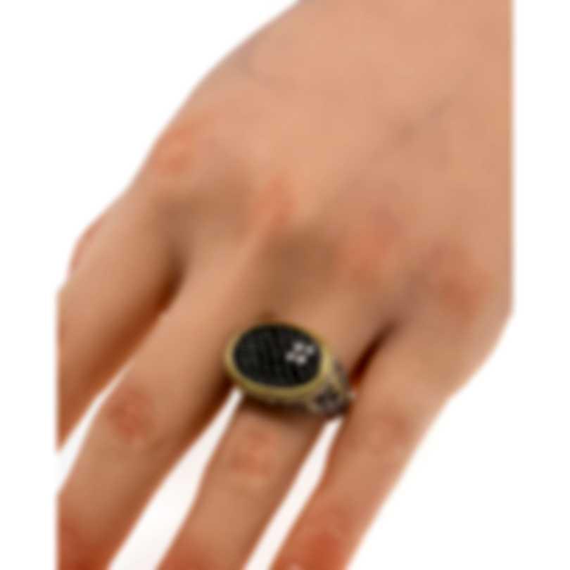 Konstantino Arsinoe Sterling Silver & 18k Gold Diamond Ring Sz 7.25 DKJ407-130