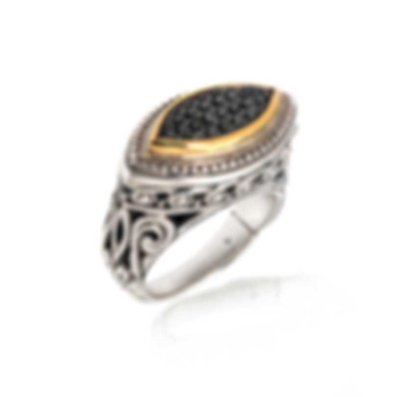 Konstantino ASTERI Sterling Silver Pave Diamond .255ct Ring Sz 6.25 DKJ616-110