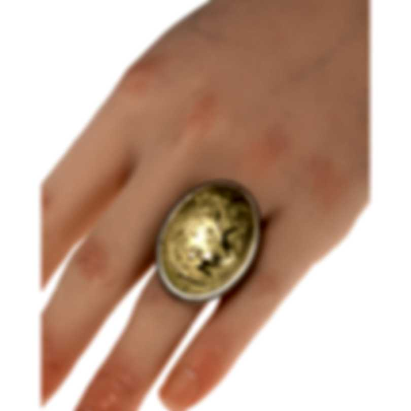 Konstantino Gaia Sterling Silver And 18k Yellow Gold Ring Sz 7 DKJ767-130