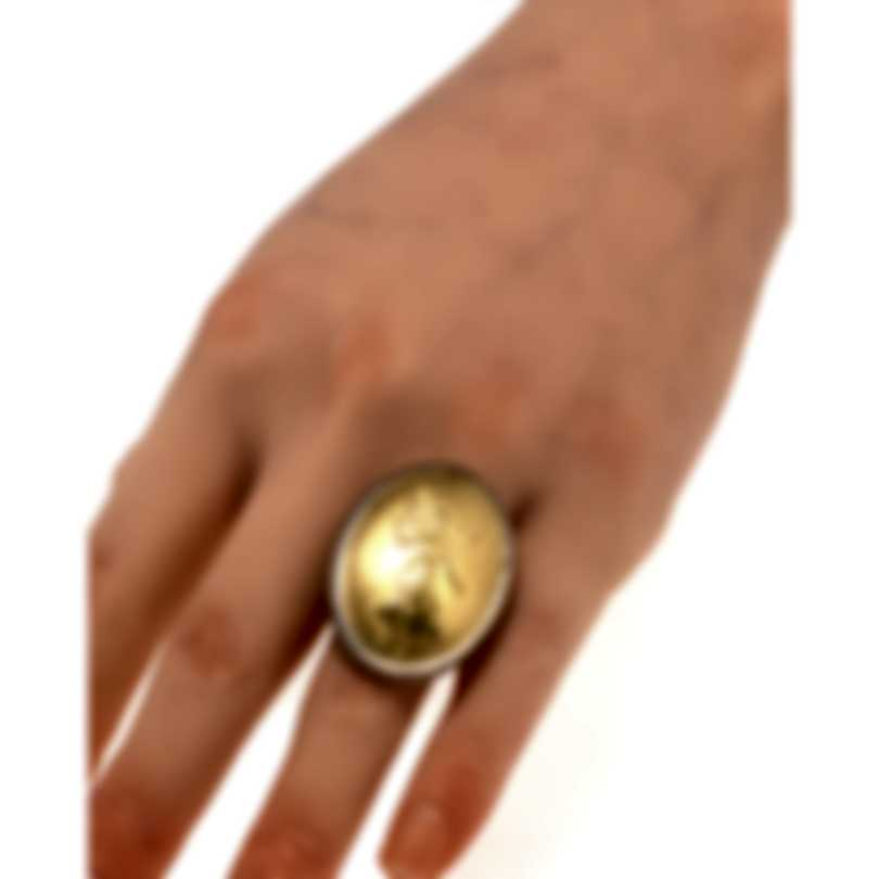 Konstantino Gaia Sterling Silver And 18k Yellow Gold Ring Sz 7 DKJ768-130