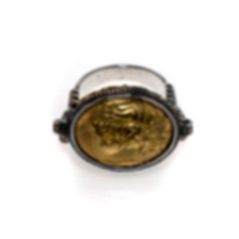 Konstantino Gaia Sterling Silver And 18k Yellow Gold Ring Sz 7 DKJ774-130