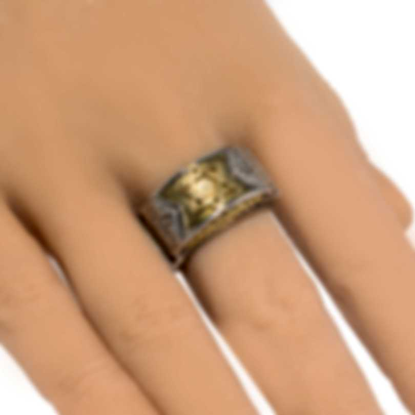 Konstantino Sterling Silver And 18k Yellow Gold Ring Sz 11 DKJ798-130S11