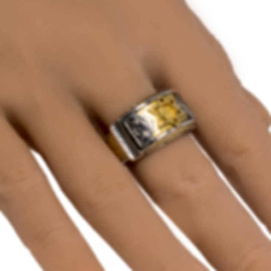 Konstantino Sterling Silver And 18k Yellow Gold Ring Sz 12 DKJ798-130S12