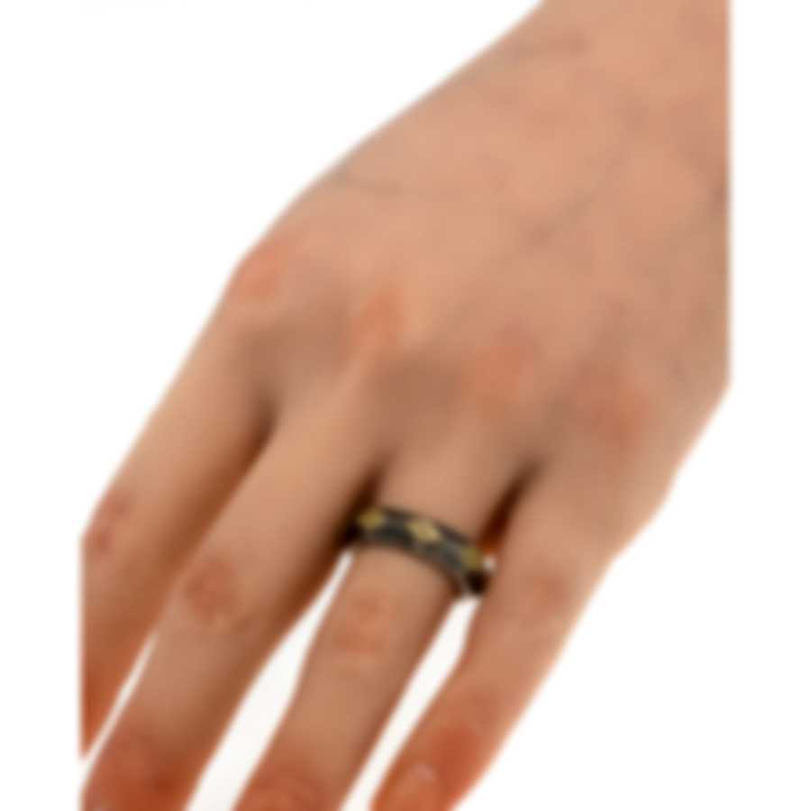 Konstantino Penelope Sterling Silver And 18k Yellow Gold Ring Sz 6 DKJ715-130-6