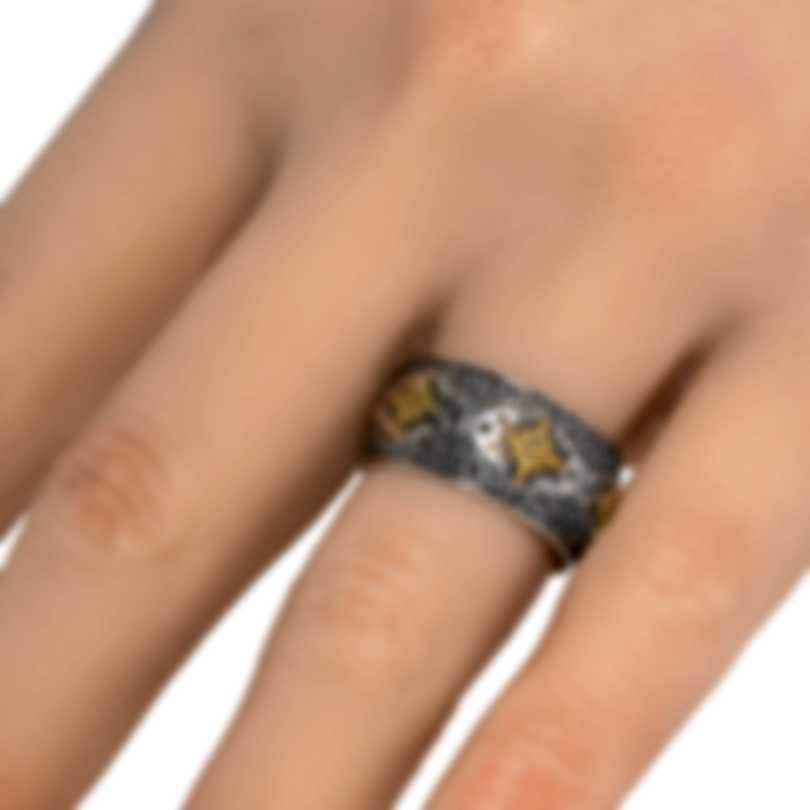 Konstantino Sterling Silver And 18k Yellow Gold Ring Sz 7 DKJ872-130S7