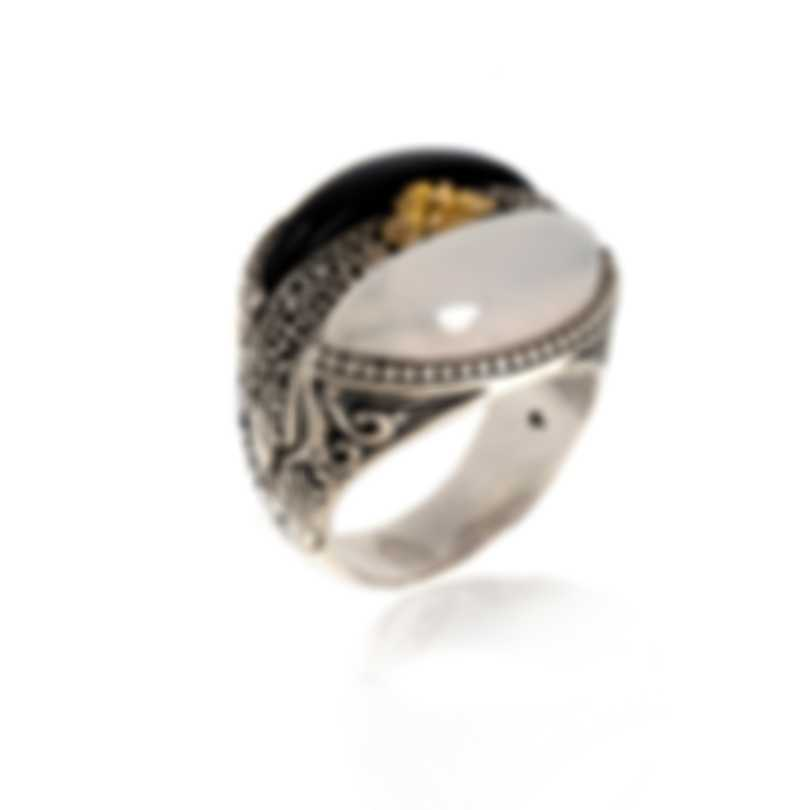 Konstantino THETIS Sterling Silver And White Agate Ring Sz 6.25 DKJ820-457 S6