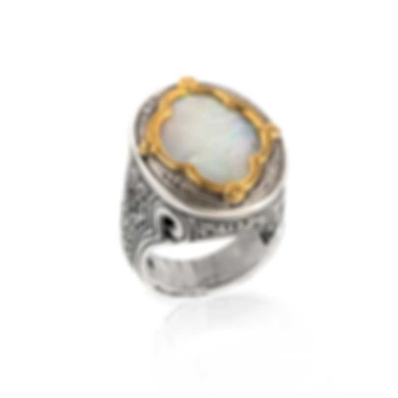 Konstantino Sterling Silver And Mother Of Pearl Ring Sz 7 DMK2006-117-CUT