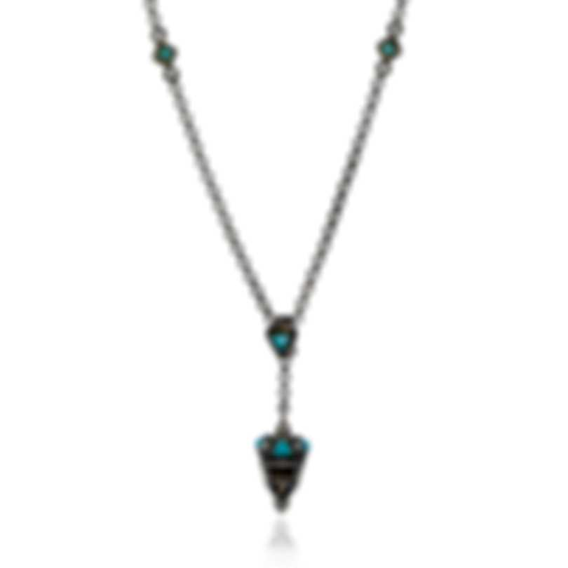 Konstantino Sterling Silver & 18k Yellow Gold & Turquoise Necklace KOKJ469-137