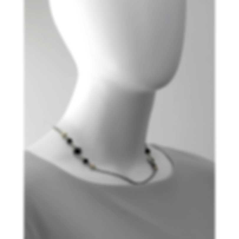Konstantino Sibylla Sterling Silver & 18k Gold & Onyx Necklace KOMK4705-120-CUT