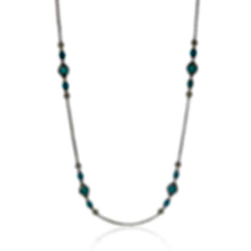 Konstantino Sibylla Sterling Silver And Turquoise Necklace KOMK4705-137-36-6U