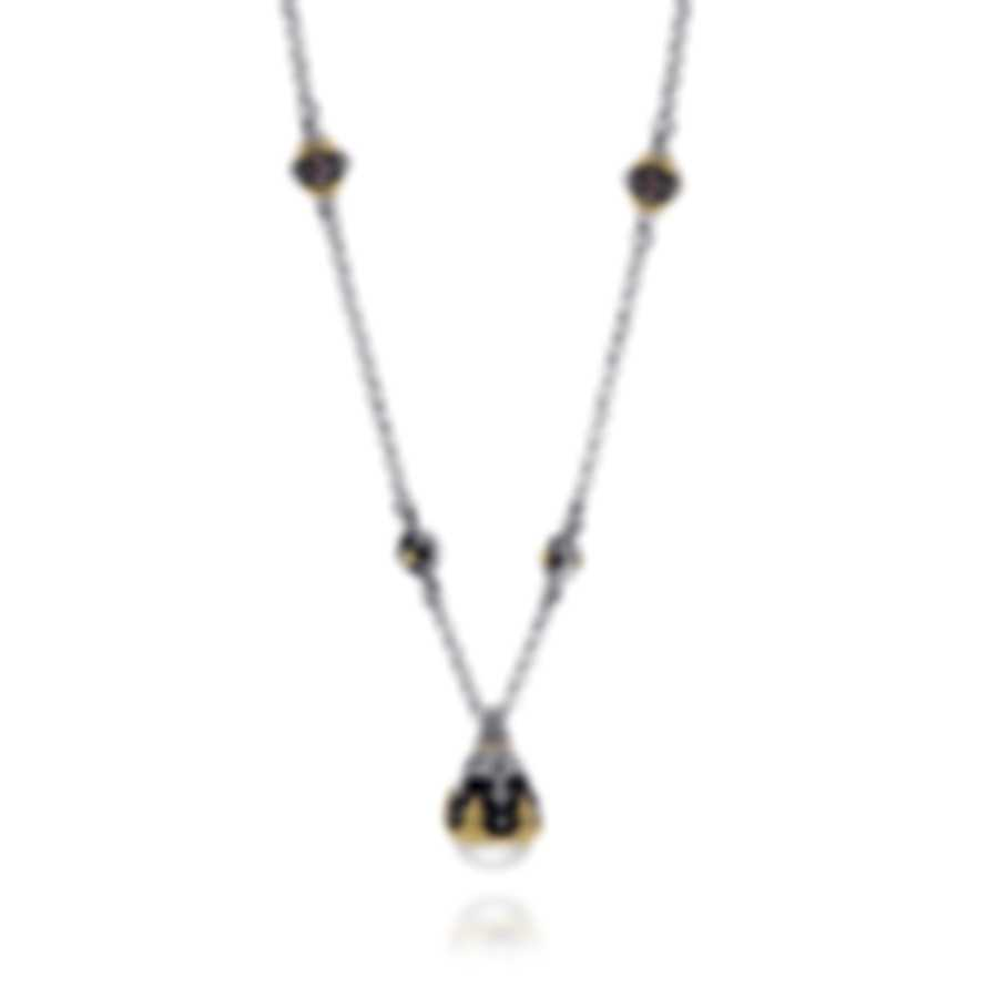 Konstantino Nemesis Sterling Silver & 18k Gold & Pearl Necklace KOMK4727-229-CAB