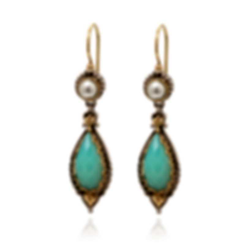 Konstantino AMPHITRITE Sterling Silver And Sea Blue Agate Earrings SKKJ553-345