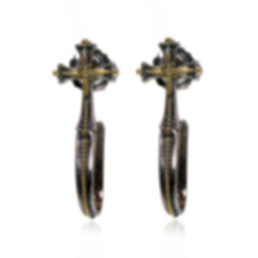 Konstantino Hebe Sterling Silver And 18k Yellow Gold Earrings SKKJ572-130