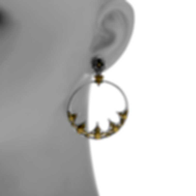 Konstantino Hebe Sterling Silver And 18k Yellow Gold Earrings SKKJ575-130