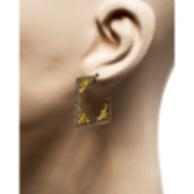 Konstantino Penelope Sterling Silver And 18k Yellow Gold Earrings SKKJ587-130