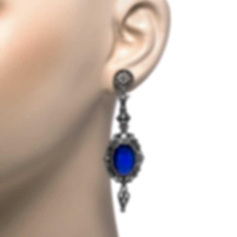 Konstantino Sterling Silver And Lapis Earrings SKKJ604-131-381