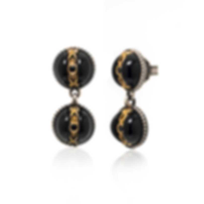 Konstantino THETIS Sterling Silver And Onyx Earrings SKKJ613-314