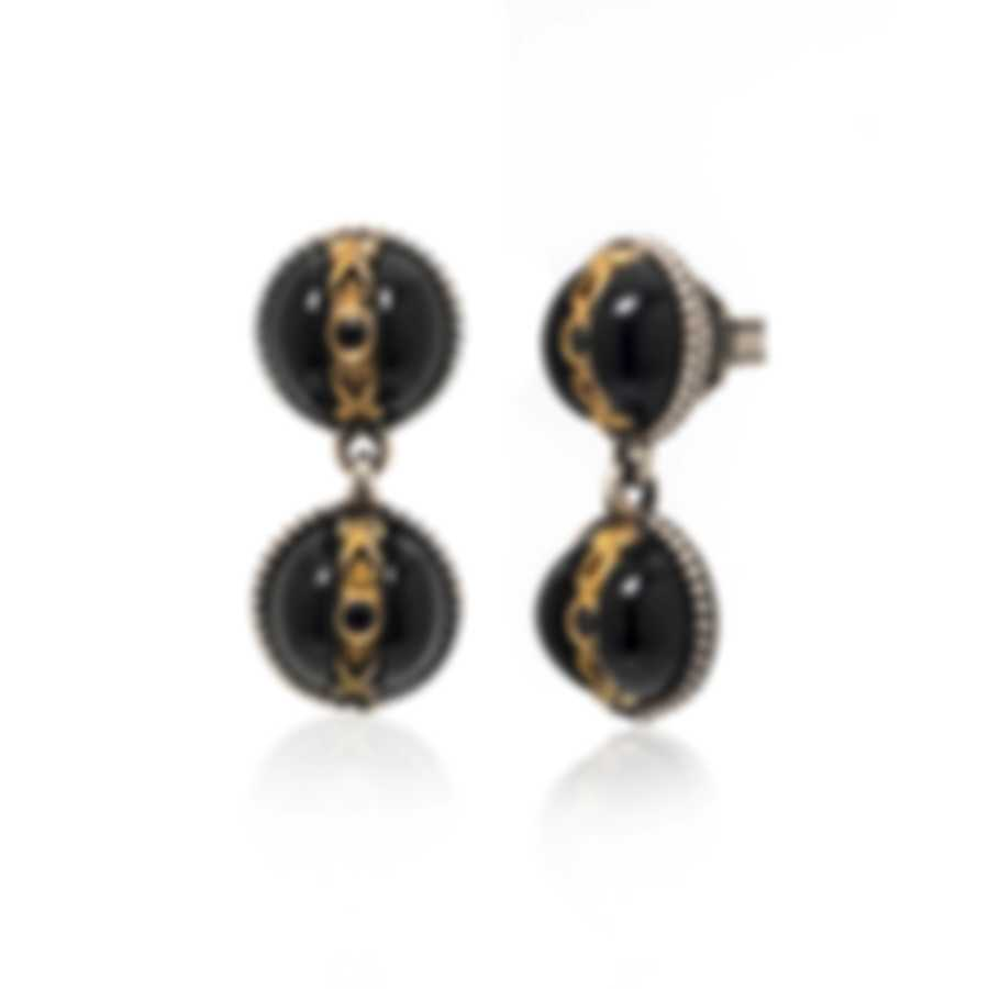Konstantino THETIS Sterling Silver And Onyx Earrings SKKJ613-314