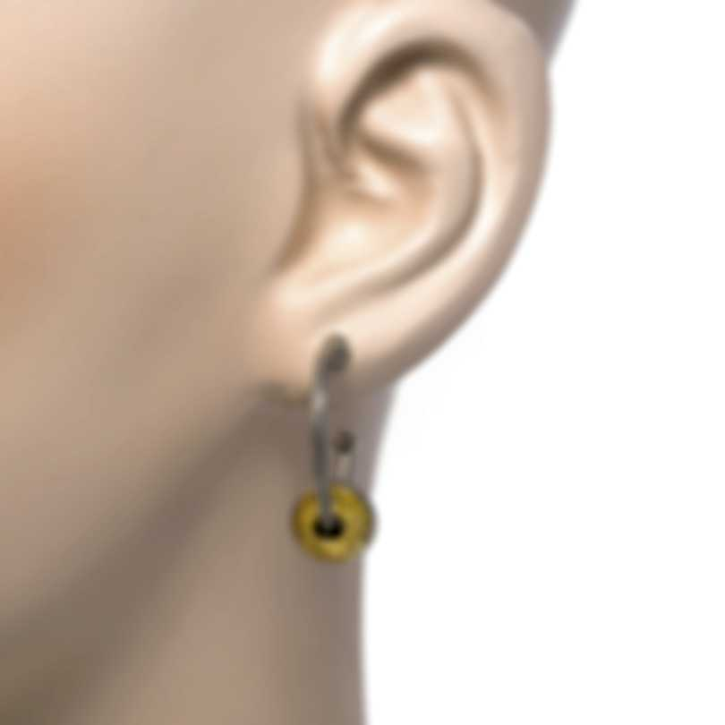 Konstantino Gaia Sterling Silver And 18k Yellow Gold Earrings SKKJ616-130