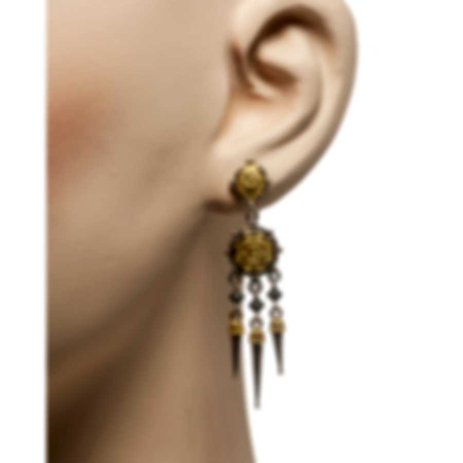 Konstantino Gaia Sterling Silver And 18k Yellow Gold Earrings SKKJ619-130
