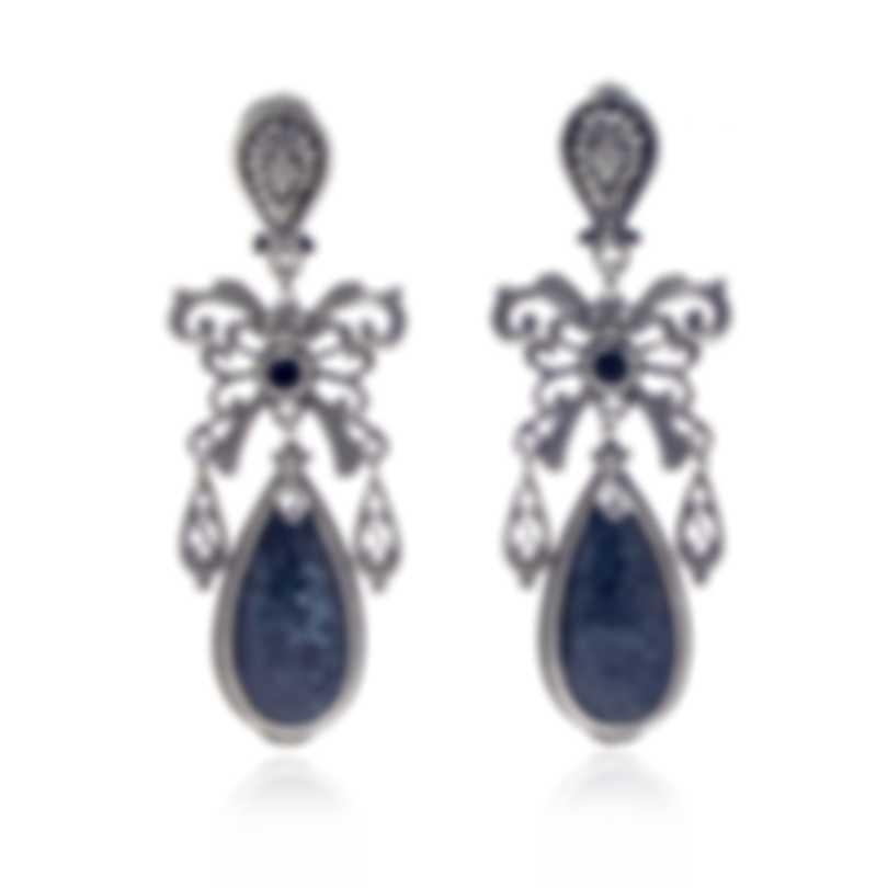 Konstantino Sterling Silver And Hematite Earrings SKKJ627-131-420
