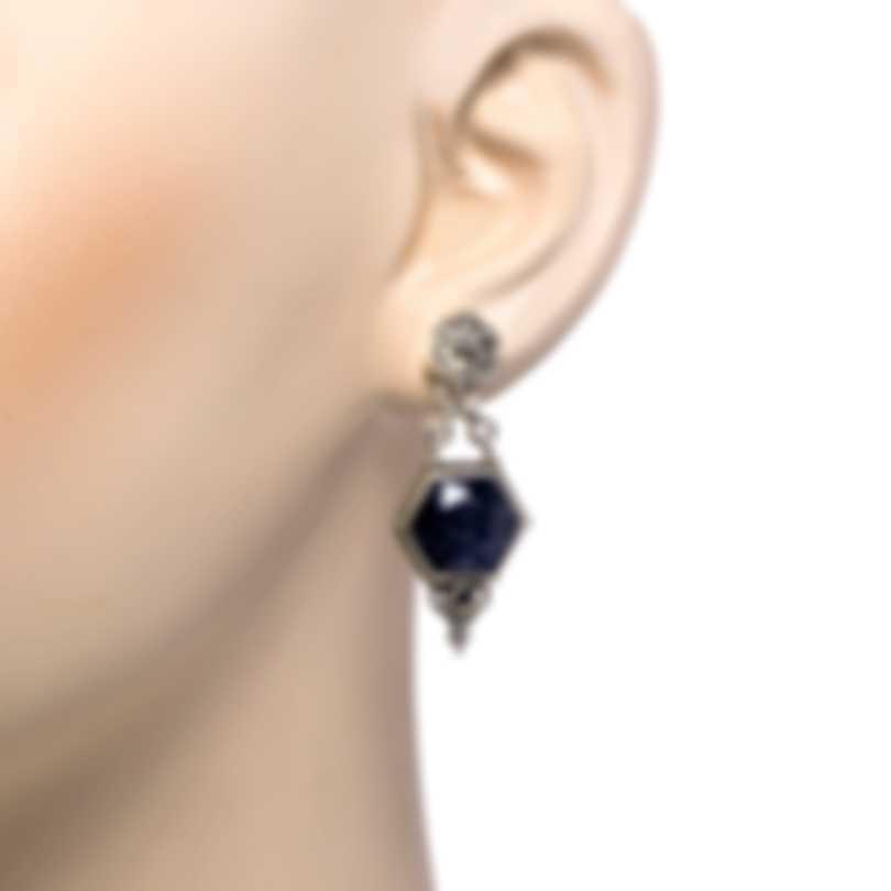 Konstantino Sterling Silver And Hematite Earrings SKKJ628-131-420