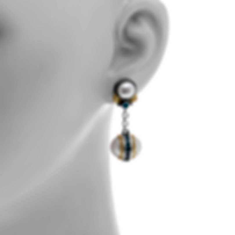 Konstantino Sterling Silver And 18k Yellow Gold Earrings SKKJ636-476