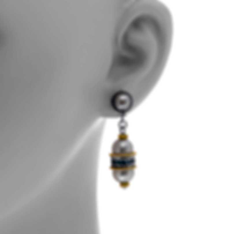 Konstantino Sterling Silver And 18k Yellow Gold Earrings SKKJ638-476