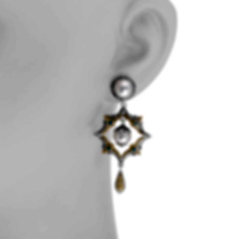 Konstantino Sterling Silver And 18k Yellow Gold Earrings SKKJ640-476