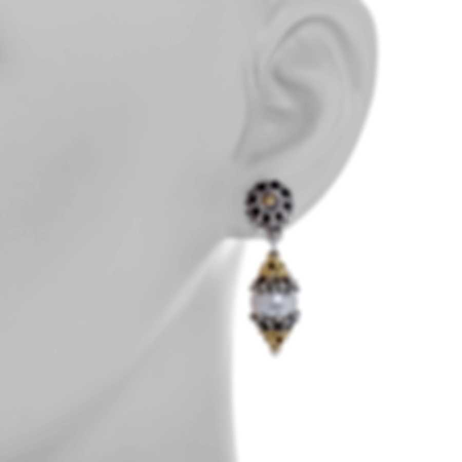 Konstantino Sterling Silver And 18k Yellow Gold Earrings SKKJ88-122