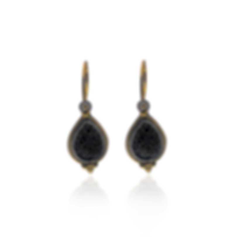 Konstantino Arsinoe Sterling Silver & 18k Gold Diamond 0.58ct Earrings SKMK2969