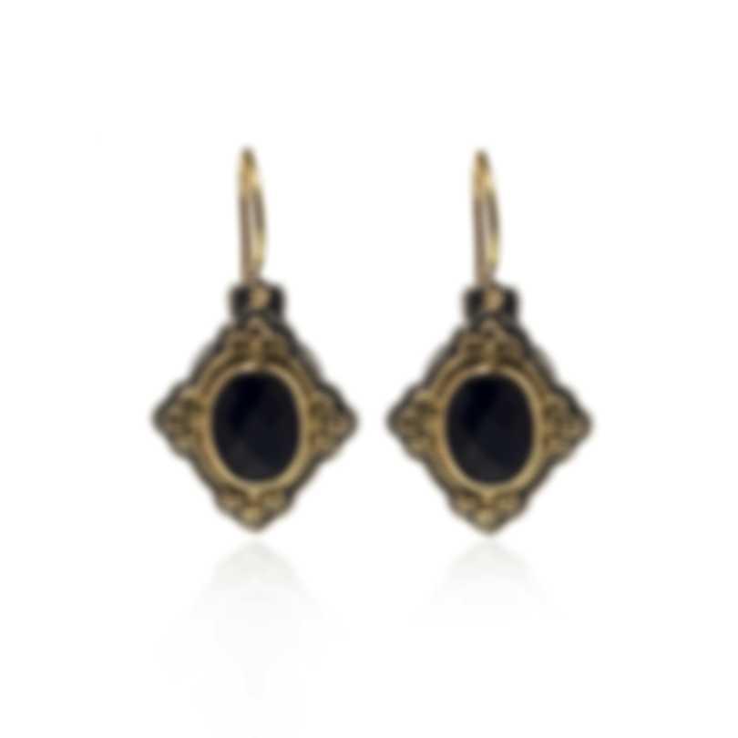 Konstantino Nykta Sterling Silver & 18k Yellow Gold & Onyx Earrings SKMK2989-120
