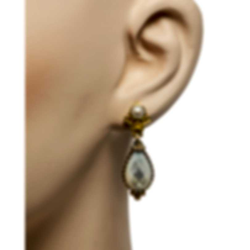 Konstantino Nykta Sterling Silver & 18k Yellow Gold & Mother Of Pearl Earrings