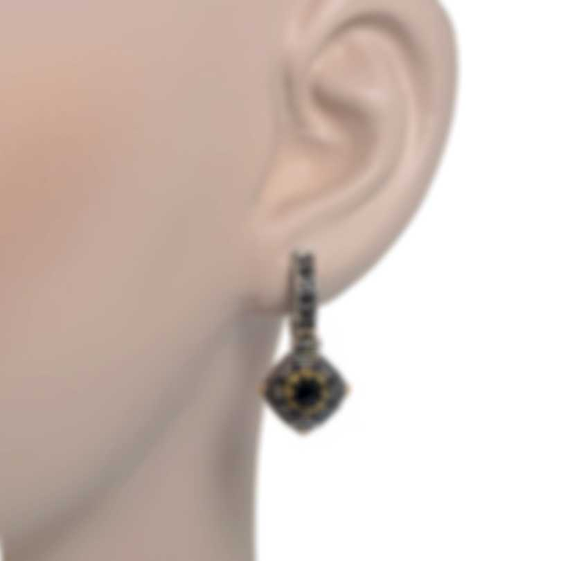 Konstantino Hermione Sterling Silver & 18k Gold & Spinel Earrings SKMK3065-314