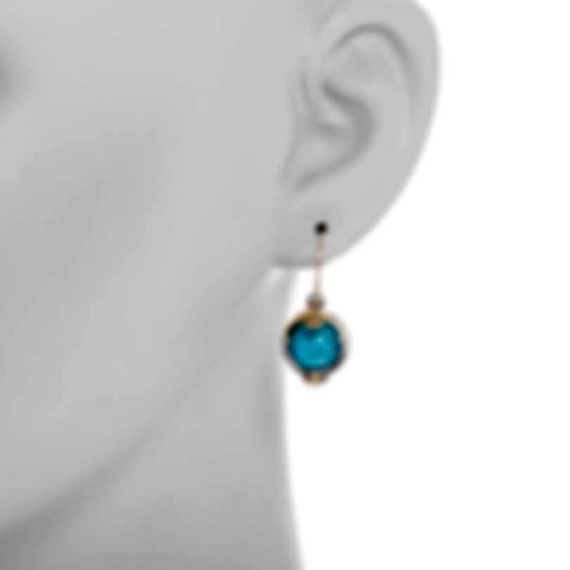 Konstantino Sterling Silver & 18k Yellow Gold & Chrysocolla Earrings SKMK3099-37