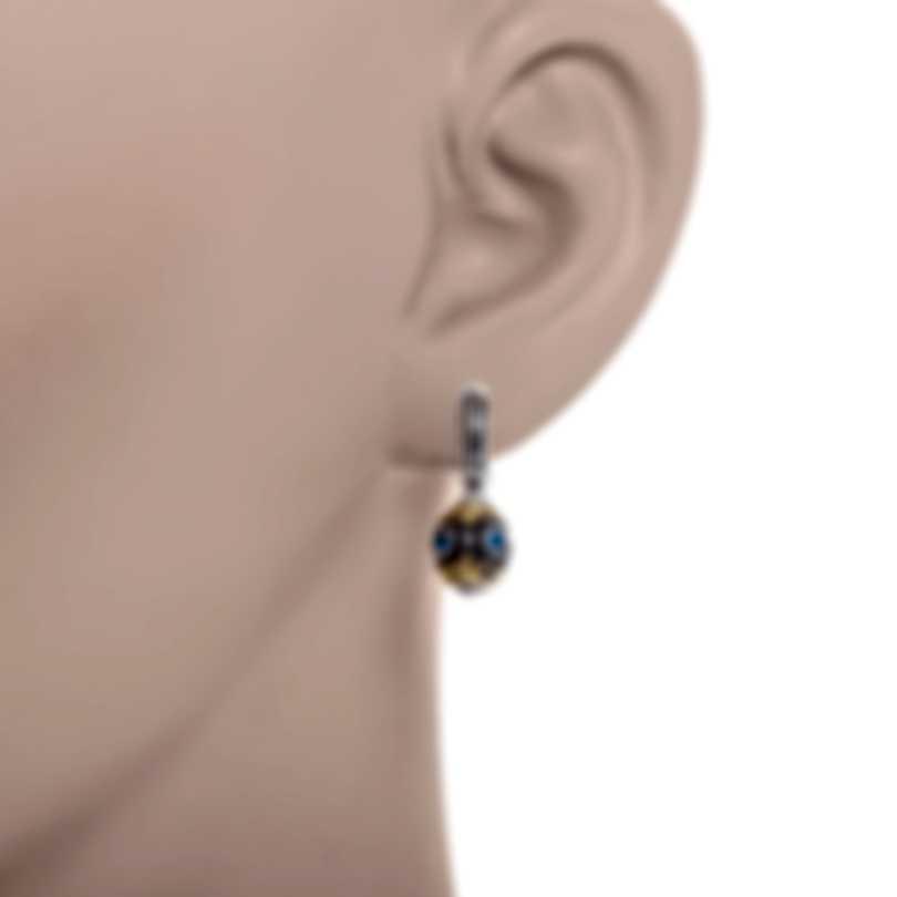 Konstantino Sterling Silver & 18k Yellow Gold & Topaz Earrings SKMK3120-298-CUT