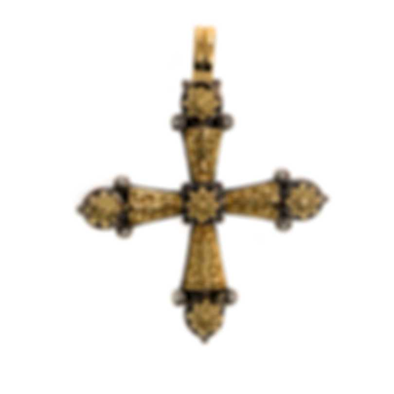 Konstantino Sterling Silver And 18k Yellow Gold Pendant STKJ334-130
