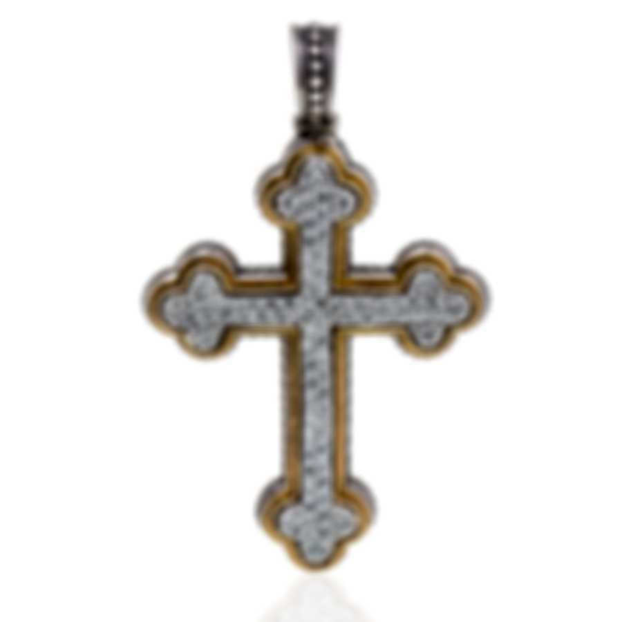 Konstantino Arsinoe Sterling Silver & 18k Gold Diamond 1.00ct Earrings STMK6904