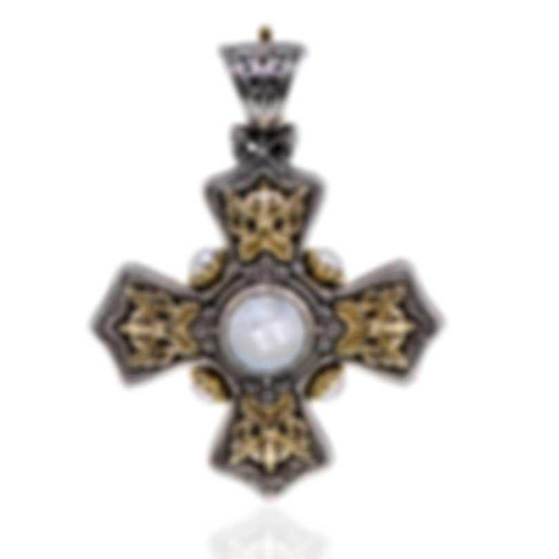 Konstantino Nykta Sterling Silver 18k Gold & Mother Of Pearl Pendant STMK6925
