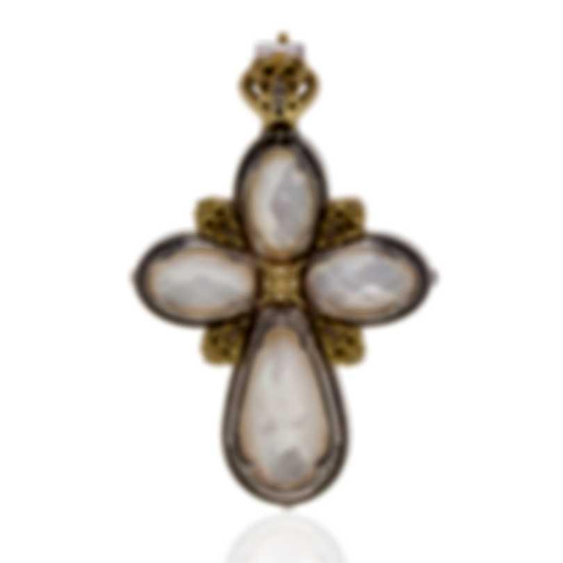 Konstantino Selene Sterling Silver & 18k Gold & Mother Of Pearl Pendant STMK6941