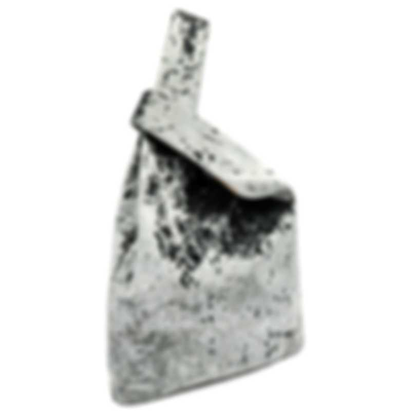 "HAYWARD ""Shopper"" Grey Crushed Velvet Tote Bag - HLH-00247M81"