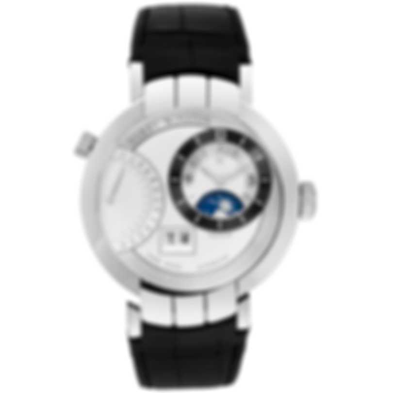 Harry Winston 18K White Gold Premier Excenter Manual Wind Men's Watch PRNATZ41WW002