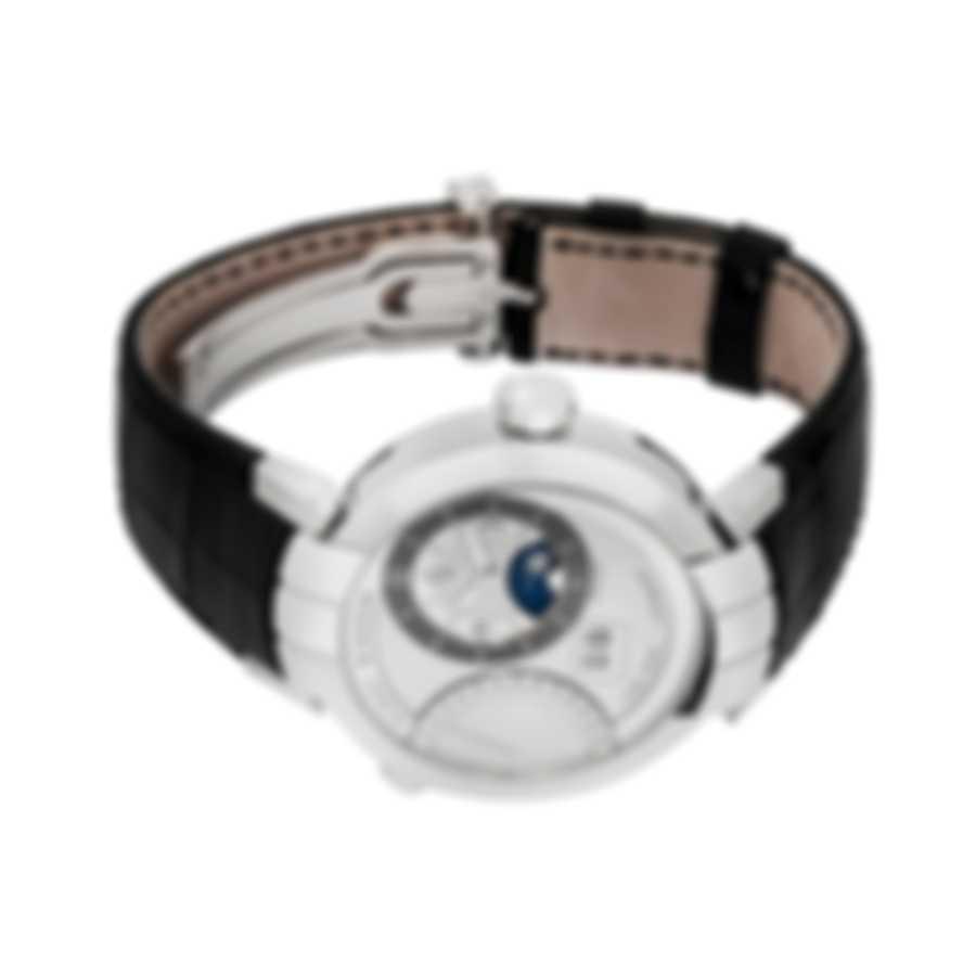 Harry Winston 18K White Gold Premier Excenter Manual Wind Men's Watch PRNATZ41WW002