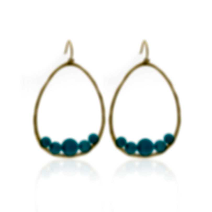 Ippolita 18k Yellow Gold And Turquoise Nova Earrings GE1881TQGM